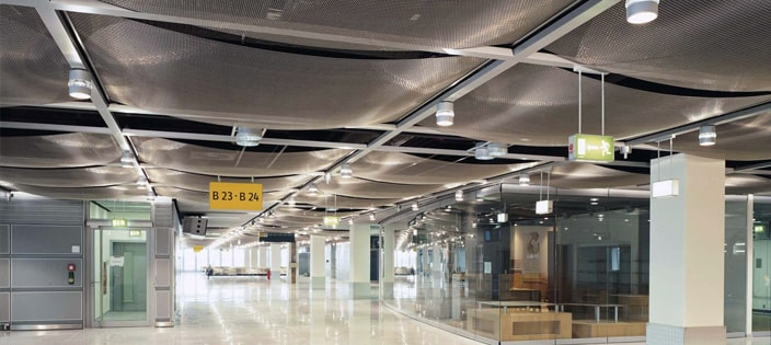 Outfitting an Airport With Architectural Wire Mesh